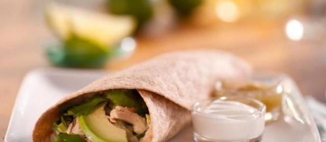 Chicken and Bean Burrito Verde Recipe