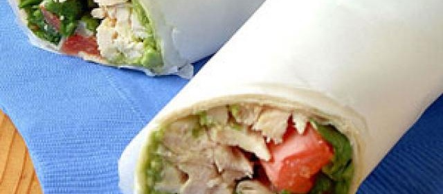 Guacamole Chicken Wraps