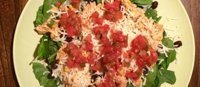 Taco Salad with Spinach
