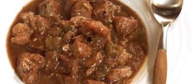 Pork and Green Pepper Stew