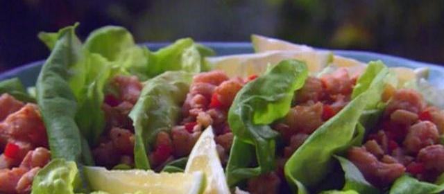 Lime Shrimp Lettuce Wraps Recipe   Paula Deen   Food Network