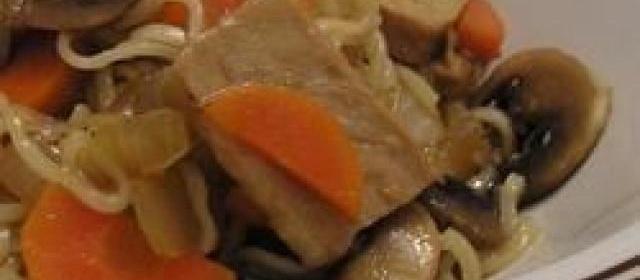 Ginger Pork Stir Fry (with Mushroom)