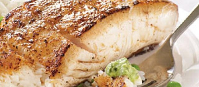 Halibut with Spicy Mint-Cilantro Chutney