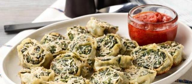 Fresh Pasta Rollatini with Spinach and Ricotta Recipe | Giada De ...