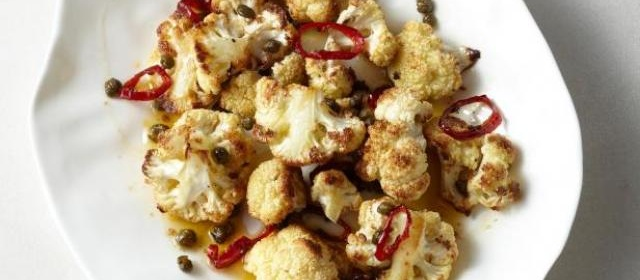Roasted Cauliflower with Capers and Chile Recipe | Food Network ...