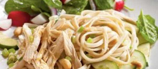 Cold Sesame Noodles with Chicken and Cucumbers Recipe ...