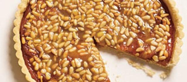 Quince Tart with Pine Nut Caramel Glaze