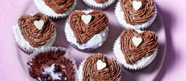 Melting heart muffins