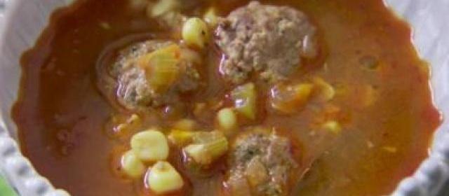 Lamb Meatball Soup (Sopa de Albondigas)