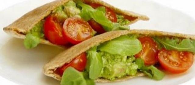 Veggie-Stack Pita Pockets Recipe | Food Network Kitchen | Food ...