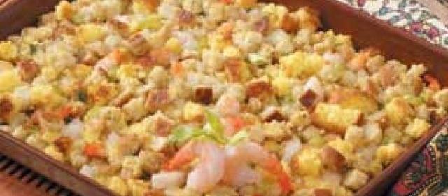 Shrimp Corn Bread Dressing