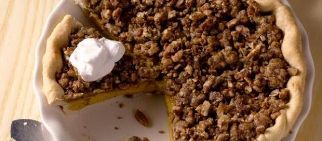 Michele Albano's Maple Pumpkin Pie with Pecan Streusel Recipe ...