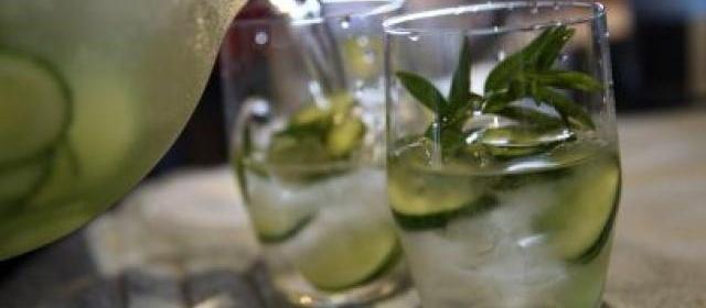 Cucumber and Lemon Verbena Water