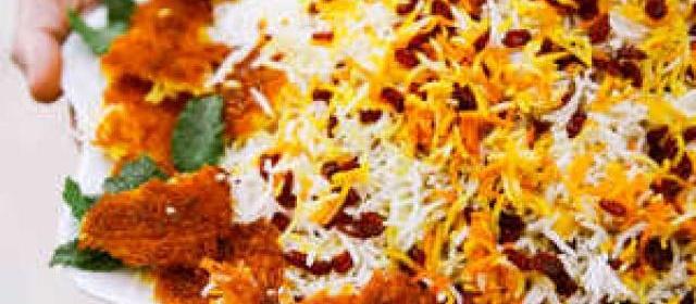 Barberry Rice with Saffron Chicken (Zereshk Polo) Recipe ...