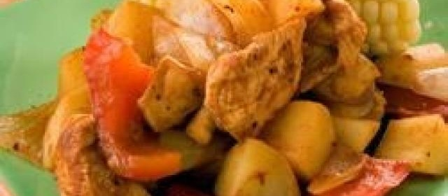 Chicken and Potato Parcels