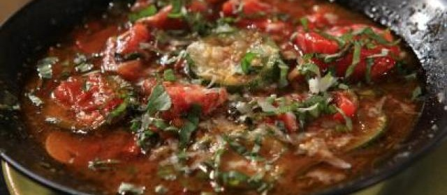 Spicy Zucchini, Pepper and Potato Soup