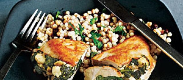 Chicken Stuffed with Spinach, Feta, and Pine Nuts Recipe ...