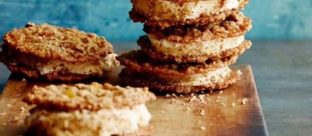 Gina's Oatmeal Cookie Ice Cream Sandwiches