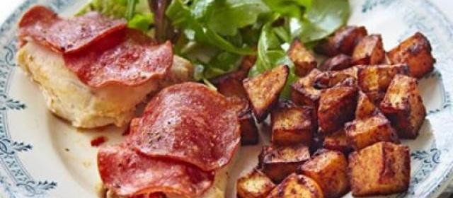 Spanish chicken with crispy paprika potatoes