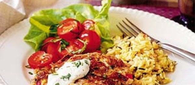 Chicken Cakes with Creole Sauce
