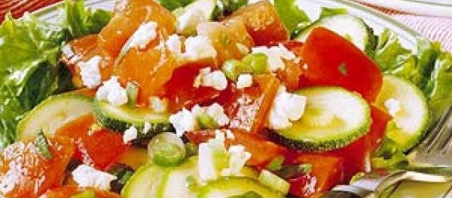 Tomato and Zucchini Salad