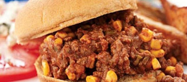 Sloppy Joes with Corn