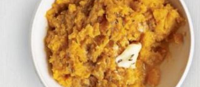 Carrot & sweet potato mash