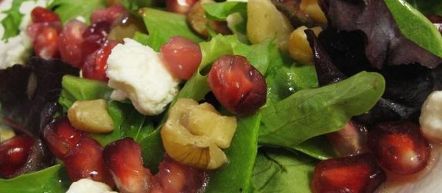 Pomegranate Feta Salad with Lemon Dijon Vinaigrette