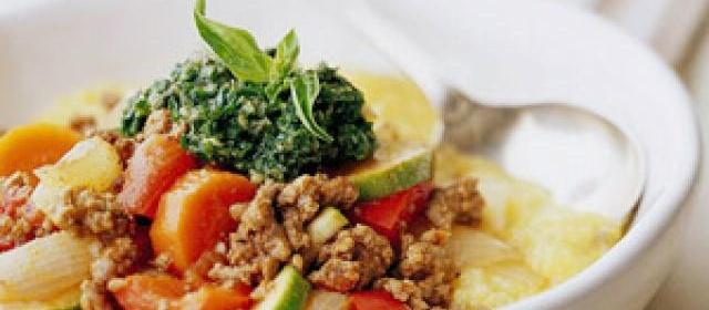 Polenta with Ground Beef Ragout