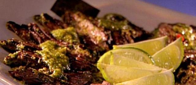 Gaucho Steak with 4-Herb Chimichurri Recipe