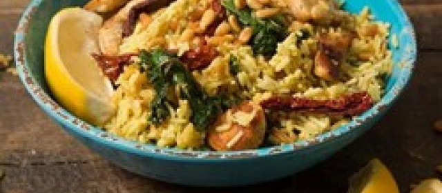 Tuscan Chicken Skillet with Kale & Sun