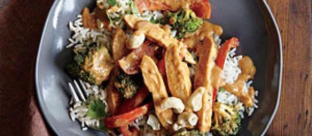 Chicken Stir-Fry with Peanut Sauce