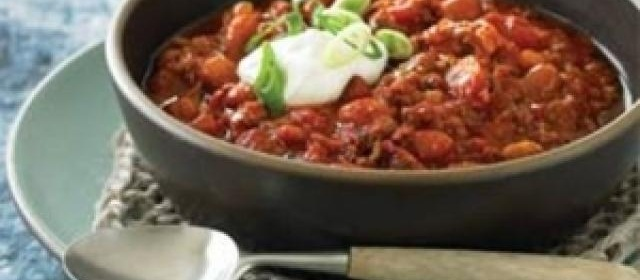 Beef, Bacon and Beer Chili