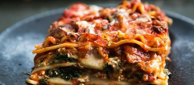 Vegetarian Lasagna Recipe, Spinach and Mushroom Lasagna ...