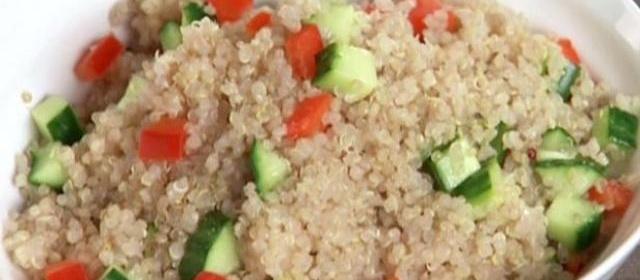 Cucumber-Bell Pepper Quinoa Recipe | Aida Mollenkamp | Food ...
