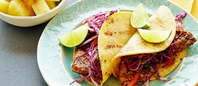 Grilled Chipotle Pork Tacos with Red Slaw and Brown Sugar ...