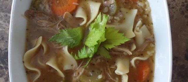 Leftover Turkey Soup (Slow Cooker)