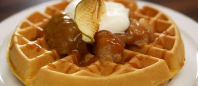 Carmel Big Apple Waffle with Salted Caramel Sauce Recipe ...