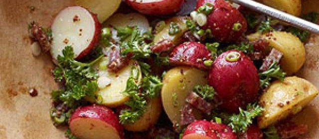 Potato Salad with Sausage and Grainy Mustard Dressing
