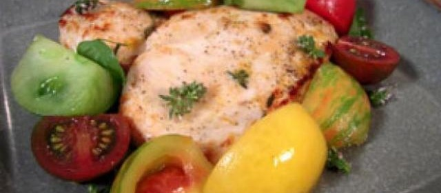 Lemon-Thyme Chicken with Heirloom Tomato Salad Recipe