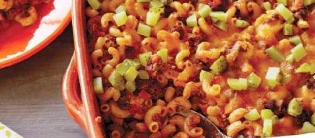 Sloppy Joe and Macaroni Casserole