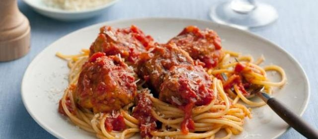 Spaghetti and No-Meat Balls Recipe