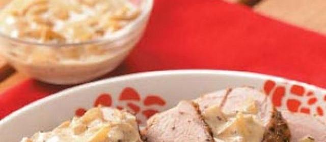 Pork Tenderloin with Pear Cream Sauce