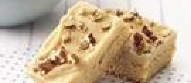 Blond Brownies with Brown Sugar Frosting