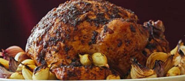 Roast Turkey with Onion Jam