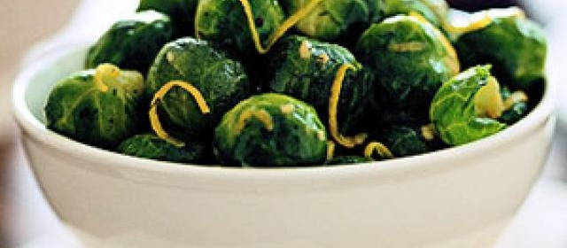 Brussels Sprouts with Lemon Sauce