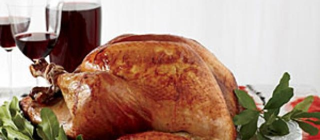 Roasted Beer-Brined Turkey with Onion Gravy and Bacon Recipe ...