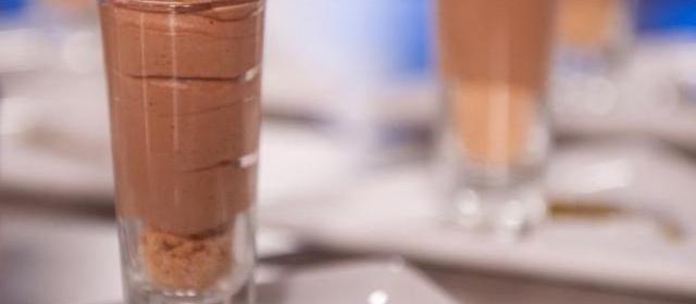 Brandy Kissed Chocolate Mousse with Coconut Crumble Recipe ...
