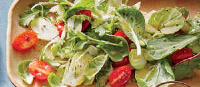 Fresh Brussels Sprouts Salad with Dijon Dressing