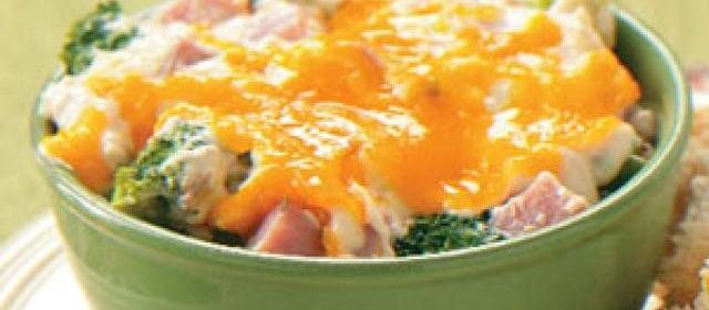 Wild Rice and Ham Casserole